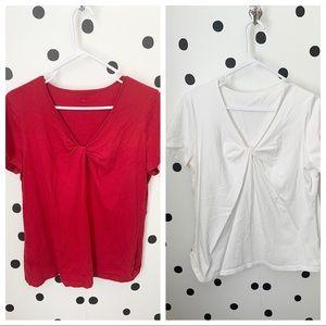 🔥30%OFF🔥EUC bundle red/white shirts